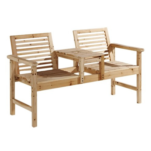 Mountrose garden love seat furniture wooden chairs with for Garden love seat uk
